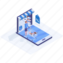 eshop, ecommerce, online shopping, online shop, online store icon