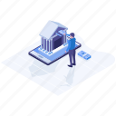 digital banking, ebanking, ecommerce, internet banking, mobile banking, online banking icon