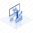 business chart, business infographic, business statistics, data analytics, growth chart icon