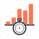 analytics, business, marketing, meeting, statistics, stopper, time icon