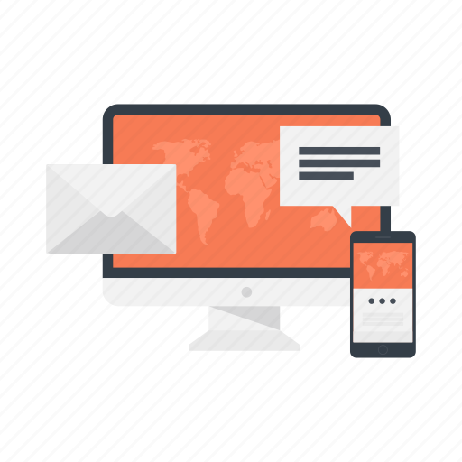 business, digital marketing, email, email marketing, mail, message, phone icon