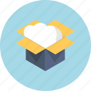 box, business, cloud, dowload, share, unboxing, upload icon