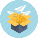 box, business, email, letter, mail, sharing, unboxing icon