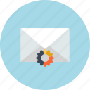 analytics, business, digital marketing, email, mail, settings, statistics icon
