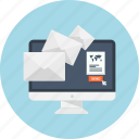 business, email, email marketing, mail, message, send, text icon