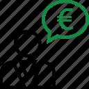 euro, money, online, sign, web icon