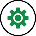gear, options, setup, work icon