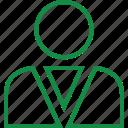 businessman, customer, online, user, web icon