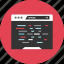 css, development, html, java, javascript, web icon
