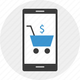 cell, mobile, online, phone, shop, web icon