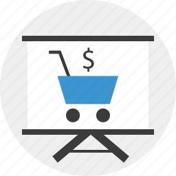 board, cart, online, shopping icon