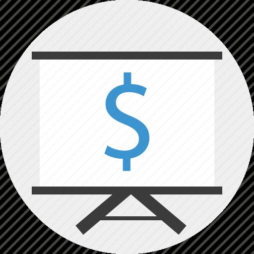 board, money, online, teach icon