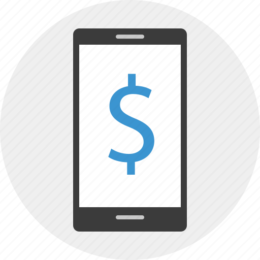 banking, call, cell, dollar, phone, sign icon