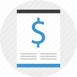 document, dollar, page, report, sign icon