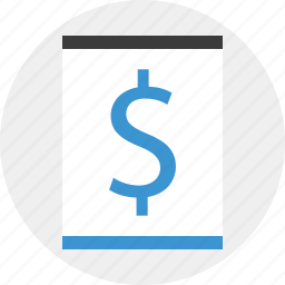 dollar, layout, money, page, sign icon