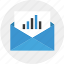 email, mail, results, send icon