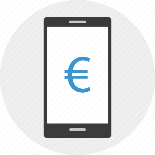 banking, euro, mobile, online, sign, web icon