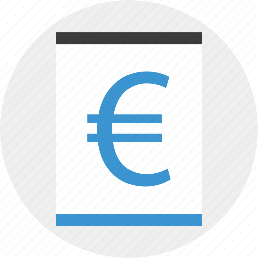 contract, euro, money, page, sign icon