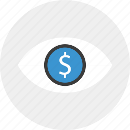 eye, find, for, look, money icon