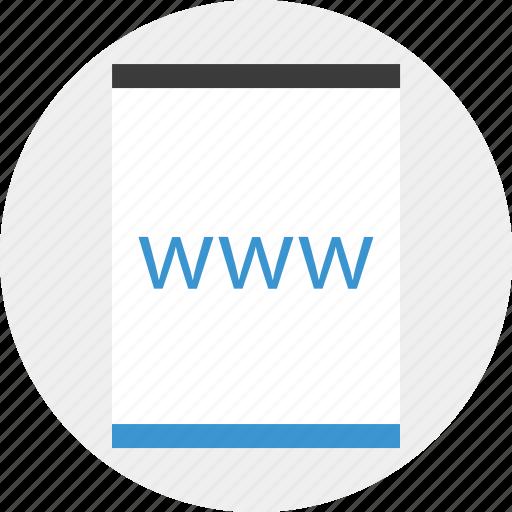 mockup, online, page, website, www icon