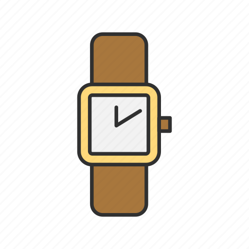gold watch, jewelry, time, watch icon