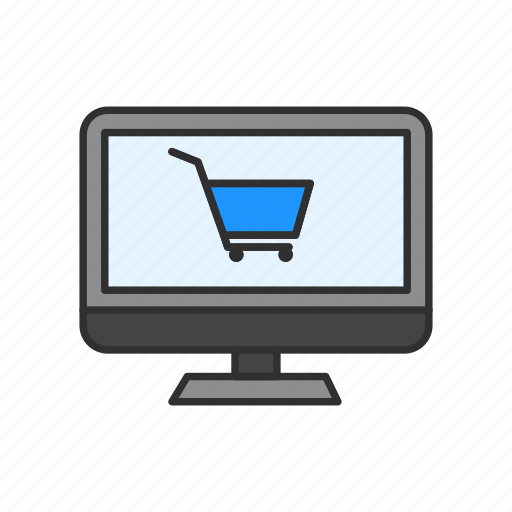 cart, computer, shopping, shopping online icon