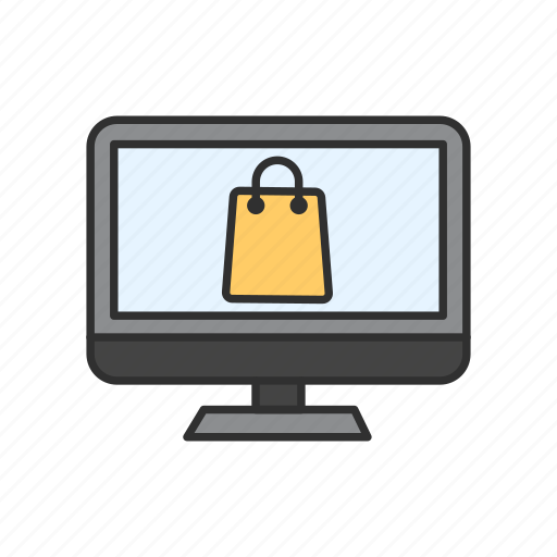 computer, online shopping, shopping, shopping online icon