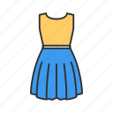 clothes, clothing, dress, woman's dress icon