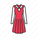 clothes, clothing, dress, women's dress icon