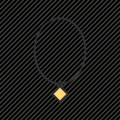 diamond, jewelry, necklace, shopping icon