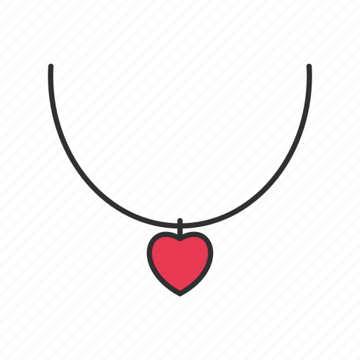 heart, jewelry, necklace, shopping icon
