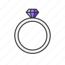 diamond ring, gem, jewelry, ring icon