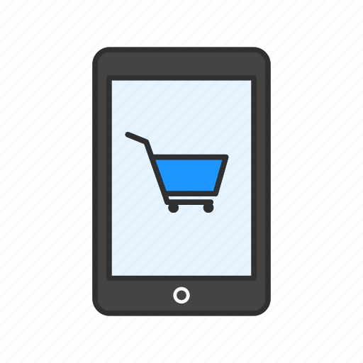 cart, phone, shopping, tablet icon