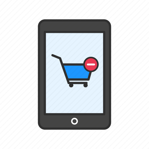 gadget, phone, remove from cart, tablet icon