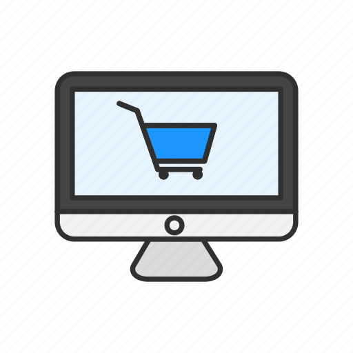 cart, computer, mac, shopping icon