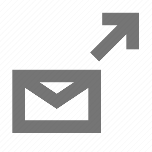 communication, email, history, material, message, move to, sent icon
