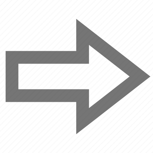 arrow, email, forward, material, outline, send icon