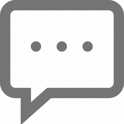 chat, comment, material, message, processing, sms, typing icon