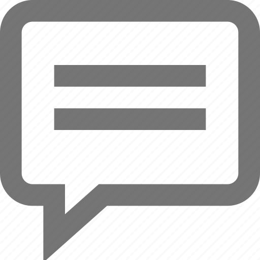 chat, comment, communication, material, message, outline, text icon