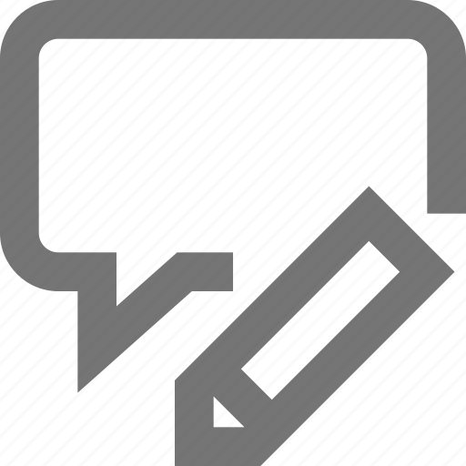 chat, hangout, material, pen, text, typing, writing icon