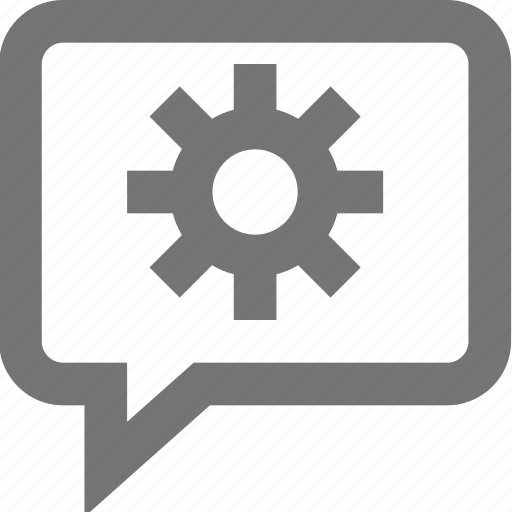 chat, communication, contact, material, outline, settings icon