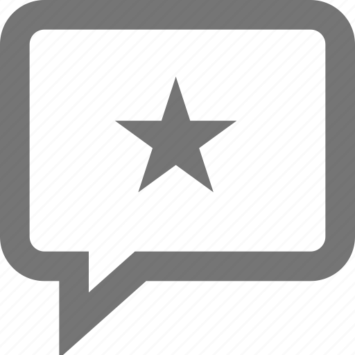 chat, comment, important, material, review, star, testimonial icon