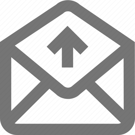 mail, material, message, move, outbox, send, upload icon