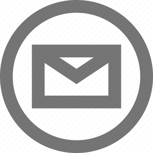 circle, contact, email, mail, material, message, sign up icon