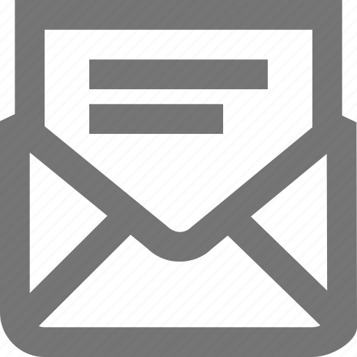 content, letter, mail, material, message, outline, text icon