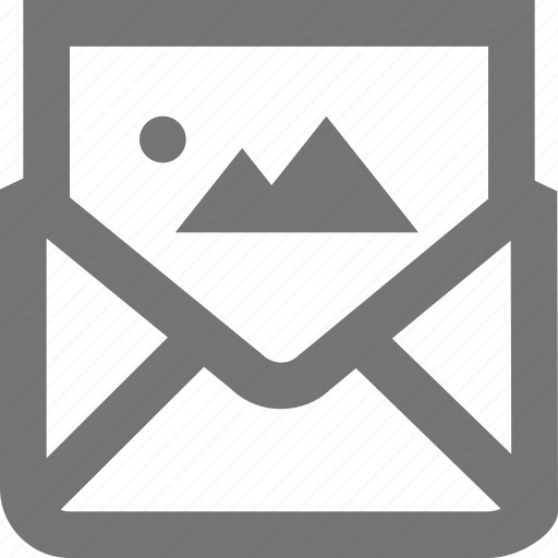 image, mail, material, message, outline, photo, picture icon