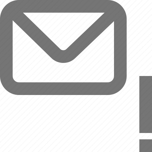 alert, mail, material, message, outline, warning icon