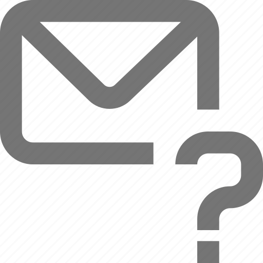 help, mail, material, message, outline, question, support icon