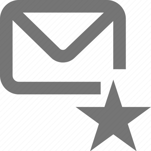 important, mail, mark, material, message, outline, star icon