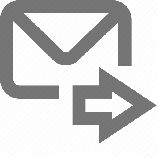 arrow, mail, material, message, outbox, send, sent icon